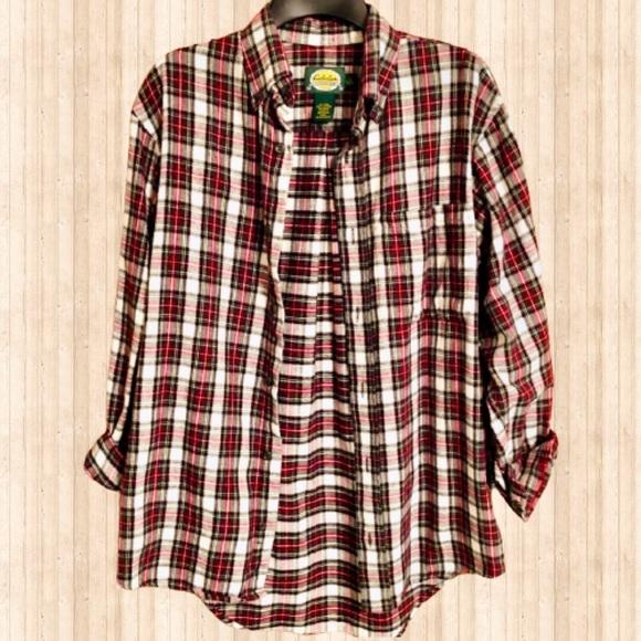 Cabela's flannel plaid shirt